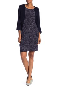Papillon Knit Accent Sweater Dress
