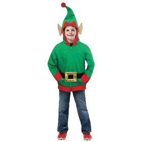 Kids' Elf Hoodie Halloween Costume Top M