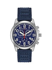Citizen Garrison Stainless Steel & Nylon-Strap Chr