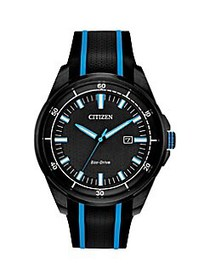 Citizen Drive Stainless Steel & Silicone-Strap Wat