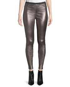 Neiman Marcus Leather Collection Metallic Leather