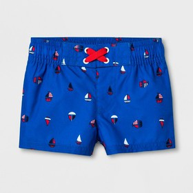 Baby Boys' Sailboat Swim Trunks - Cat & Jack™