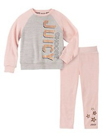 Juicy Couture Little Girl's 2-Piece Brushed Knit S