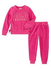 Juicy Couture Little Girl's 2-Piece Velour Lace-Up