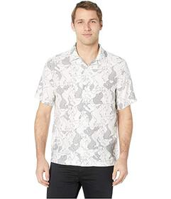 Perry Ellis Camp Collar Printed Shirt