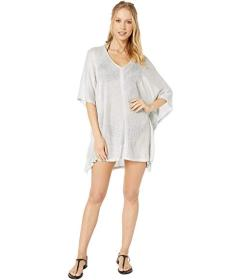 BCBG Luxe Cover Open Side V-Neck Tunic Cover-Up