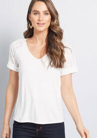 ModCloth Sporty Vibes Knit Top in White