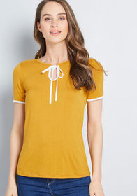 ModCloth ModCloth What's the Hap? Short Sleeve Top