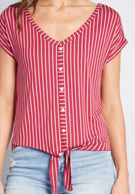 ModCloth ModCloth Timely Arrival Tie Waist Top Pin
