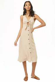 Forever21 Tie-Front Button-Down Dress
