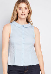 ModCloth ModCloth Refined Edition Sleeveless Blous