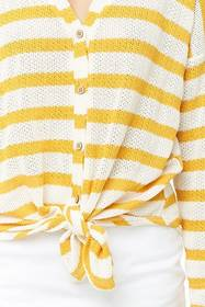 Forever21 Striped Loose-Knit Top
