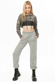 Forever21 Hooded Camo Print Crop Top