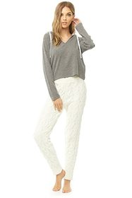 Forever21 Marled Hooded Top