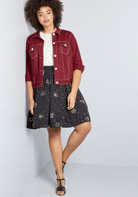 ModCloth ModCloth Covered With Color Denim Jacket