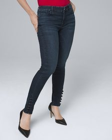 Curvy-Fit Classic-Rise Button-Detail Skinny Ankle