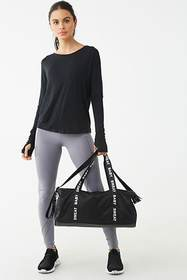Forever21 Active Plunging Back Cutout Top