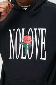 Forever21 No Love Graphic Hoodie