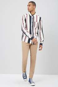 Forever21 Striped Button-Front Shirt
