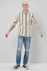 Forever21 Striped Button Shirt