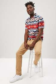 Forever21 Multicolor Geo Fitted Shirt