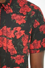 Forever21 Fitted Floral Print Shirt