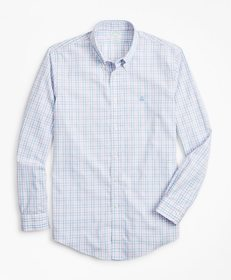 Brooks Brothers Non-Iron Milano Fit Pink Gingham S