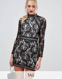 Parisian Tall long sleeve lace dress
