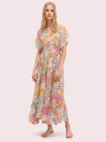 floral dots cover-up dress
