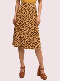 sunny bloom midi skirt