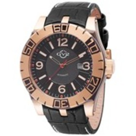 GV2 GV2 La Luna Mens Rose Gold Automatic Black Dia