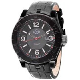 GV2 GV2 La Luna Mens Automatic Black Dial Leather