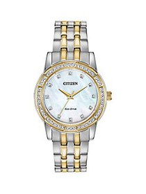 Citizen Two-Tone Stainless Steel & Swarovski Cryst