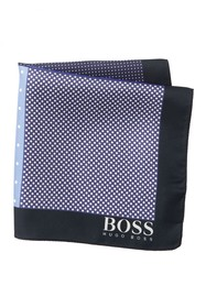 BOSS Silk Reversible Dot Print Pocket Square