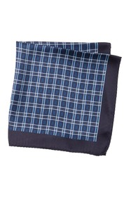 BOSS Silk Plaid Pocket Square