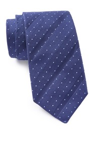 BOSS Silk Angled Dotted Stripe Tie