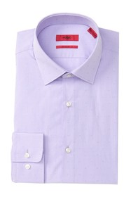 BOSS Mabel Textured Dot Trim Fit Dress Shirt