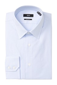 BOSS Enzo Striped Regular Fit Dress Shirt