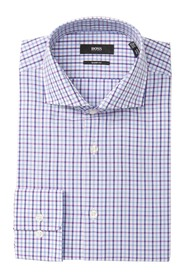 BOSS Sharp Fit Mark Check Dress Shirt