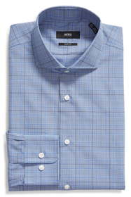 BOSS Mark Sharp Fit Plaid Dress Shirt