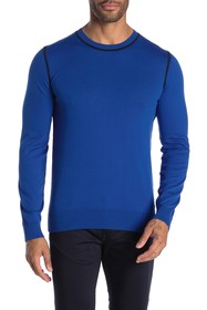 BOSS Toscano Solid Crew Neck Slim Fit Sweater