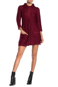 Papillon Mock Neck Sweater Dress