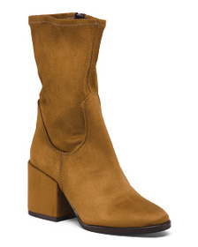 CHARLES DAVID Made In Italy Stretch High Ankle Boo