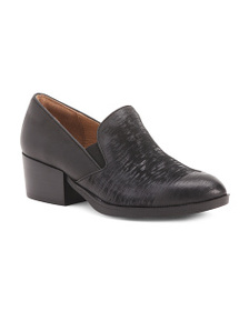 SOFFT Modern Leather Loafers With Heel