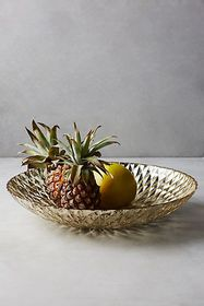 Anthropologie Mercury Glass Serving Bowl