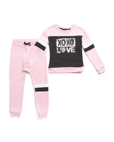 XOXO Big Girls 2pc Sequin Pullover Joggers Set