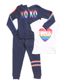 XOXO Big Girls 3pc Fleece Set