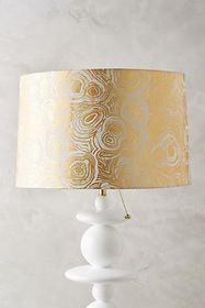 Anthropologie Gleaming Rings Lamp Shade