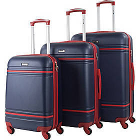 World Traveler American 3 Piece Hardside Spinner L