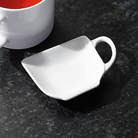 Crate Barrel Teacup Teabag Rest